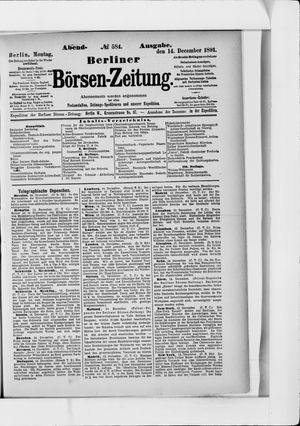 Berliner Börsen-Zeitung vom 14.12.1891