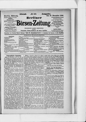 Berliner Börsen-Zeitung vom 16.12.1891