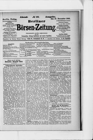 Berliner Börsen-Zeitung vom 18.12.1891