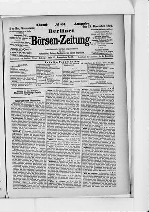 Berliner Börsen-Zeitung vom 19.12.1891