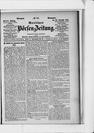 Berliner Börsen-Zeitung vom 20.12.1891