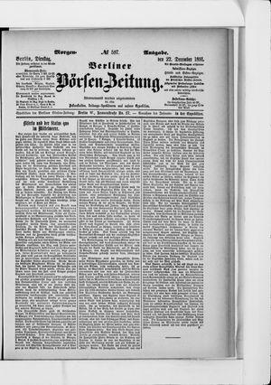 Berliner Börsen-Zeitung vom 22.12.1891