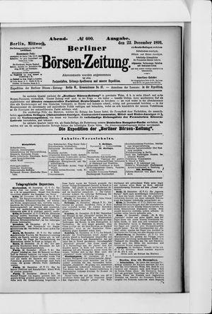 Berliner Börsen-Zeitung vom 23.12.1891