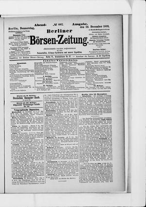 Berliner Börsen-Zeitung vom 24.12.1891