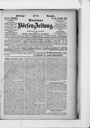Berliner Börsen-Zeitung on Dec 26, 1891