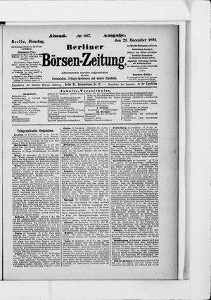 Berliner Börsen-Zeitung vom 29.12.1891
