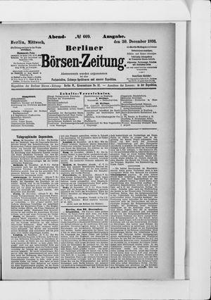 Berliner Börsen-Zeitung vom 30.12.1891