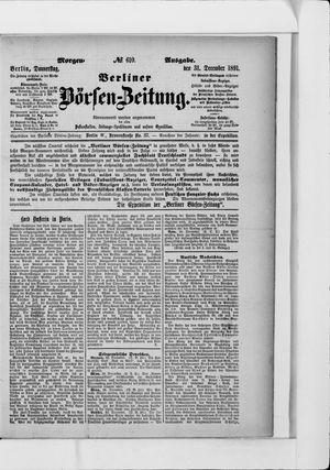 Berliner Börsen-Zeitung vom 31.12.1891