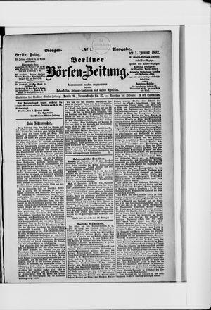 Berliner Börsen-Zeitung vom 01.01.1892