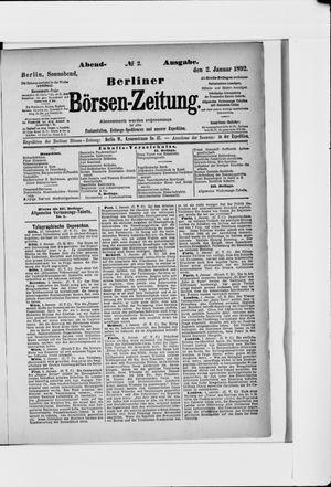 Berliner Börsen-Zeitung vom 02.01.1892