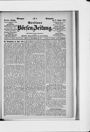 Berliner Börsen-Zeitung vom 03.01.1892