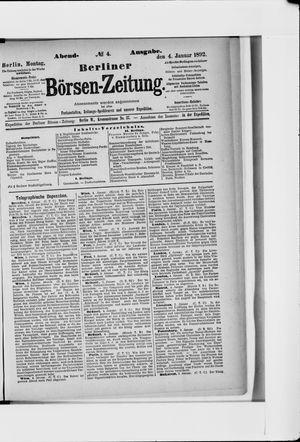 Berliner Börsen-Zeitung vom 04.01.1892