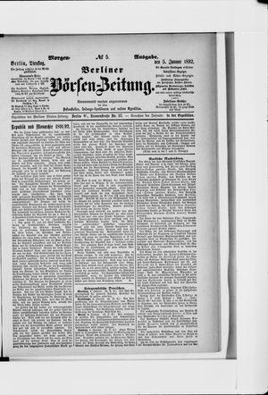 Berliner Börsen-Zeitung vom 05.01.1892