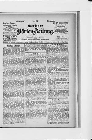 Berliner Börsen-Zeitung vom 10.01.1892