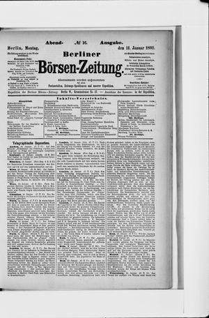 Berliner Börsen-Zeitung on Jan 11, 1892