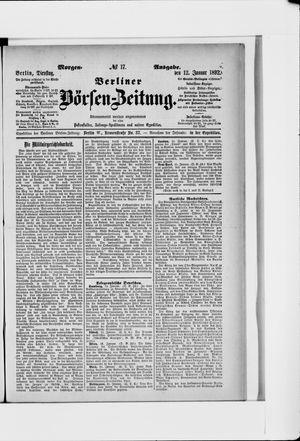 Berliner Börsen-Zeitung vom 12.01.1892