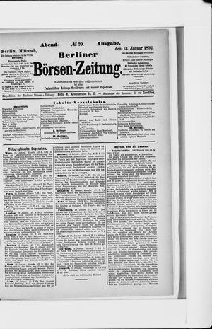 Berliner Börsen-Zeitung vom 13.01.1892