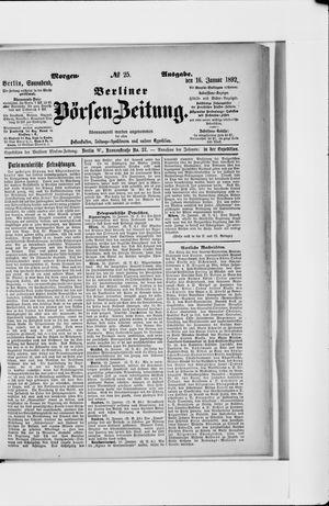 Berliner Börsen-Zeitung vom 16.01.1892