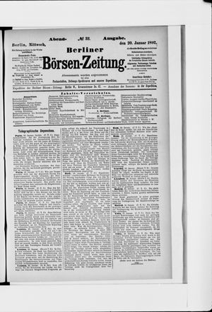 Berliner Börsen-Zeitung vom 20.01.1892