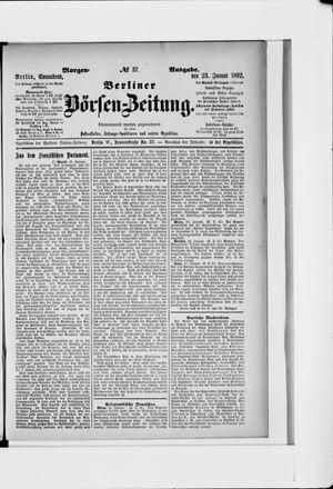 Berliner Börsen-Zeitung on Jan 23, 1892