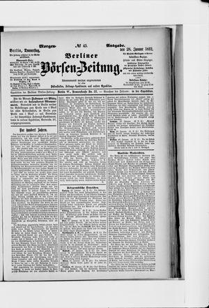 Berliner Börsen-Zeitung vom 28.01.1892
