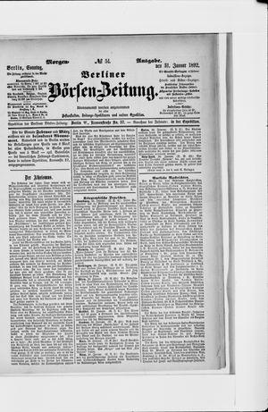 Berliner Börsen-Zeitung vom 31.01.1892