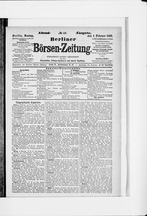 Berliner Börsen-Zeitung vom 01.02.1892