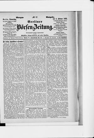 Berliner Börsen-Zeitung vom 04.02.1892