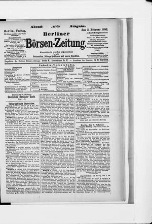 Berliner Börsen-Zeitung on Feb 5, 1892