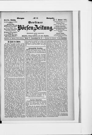 Berliner Börsen-Zeitung vom 07.02.1892