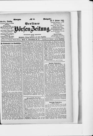 Berliner Börsen-Zeitung vom 09.02.1892