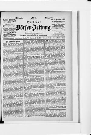 Berliner Börsen-Zeitung vom 13.02.1892