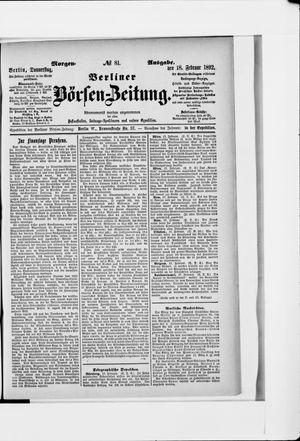 Berliner Börsen-Zeitung vom 18.02.1892