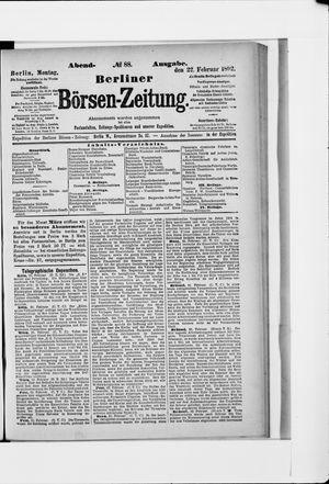 Berliner Börsen-Zeitung vom 22.02.1892