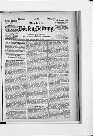 Berliner Börsen-Zeitung vom 24.02.1892