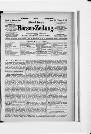 Berliner Börsen-Zeitung vom 25.02.1892