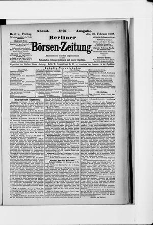 Berliner Börsen-Zeitung vom 26.02.1892
