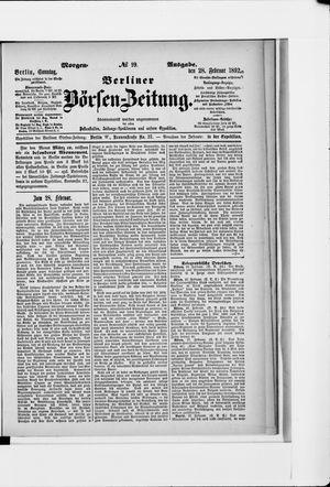 Berliner Börsen-Zeitung vom 28.02.1892