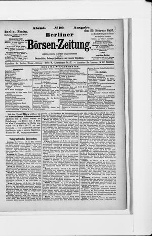 Berliner Börsen-Zeitung vom 29.02.1892