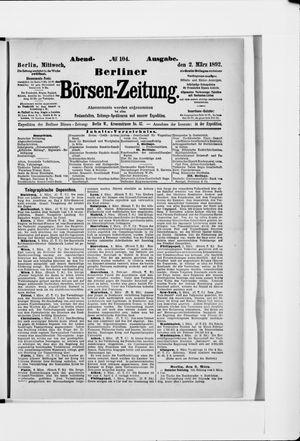 Berliner Börsen-Zeitung vom 02.03.1892