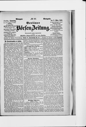 Berliner Börsen-Zeitung vom 03.03.1892