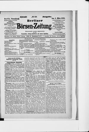 Berliner Börsen-Zeitung vom 05.03.1892