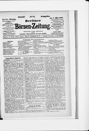 Berliner Börsen-Zeitung vom 08.03.1892