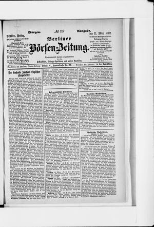 Berliner Börsen-Zeitung vom 11.03.1892