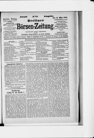 Berliner Börsen-Zeitung vom 14.03.1892