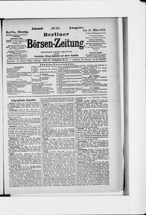 Berliner Börsen-Zeitung vom 15.03.1892