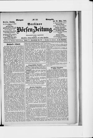 Berliner Börsen-Zeitung vom 20.03.1892