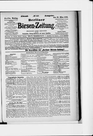 Berliner Börsen-Zeitung vom 28.03.1892