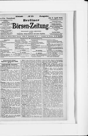 Berliner Börsen-Zeitung vom 02.04.1892