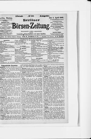 Berliner Börsen-Zeitung on Apr 4, 1892